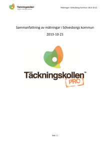 Rapport om mätresultatet för mobiltäckning i Sölvesborgs kommun
