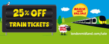 Save 25% on rail tickets with London Midland