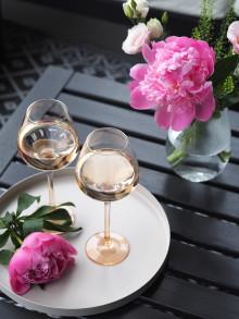 Roséfarget og sommerlig NYHET i Odyssé serien fra Hadeland Glassverk