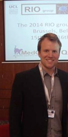 Fredrik Weibull från Imagine that presenterade forskning i Bryssel