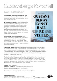 Gustavsbergs Konsthall Revisited – anniversary exhibition and book release