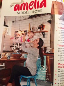 Stor intervju och hemma-hos-reportage men författaren Ebba Ómarsson i senaste Amelia (2/2015)