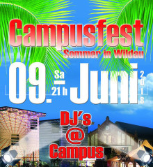 "​15. Campusfest ""Sommer in Wildau"" am 9. Juni 2018"