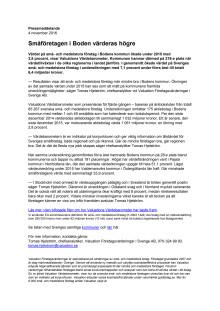 Värdebarometern 2015 Bodens kommun