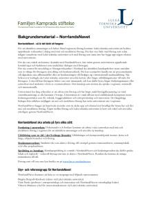 Bakgrundsmaterial – NorrlandsNavet