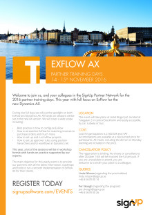 ExFlow AX 2016 Partner Training Days