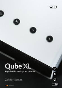 Qube XL High End Streaminglautsprecher aus Aluminium