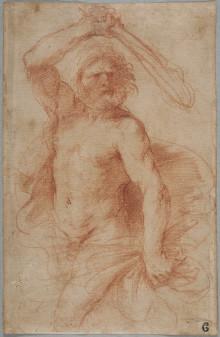 Nyförvärv: Studie för Herkules i trekvartsfigur av Guercino