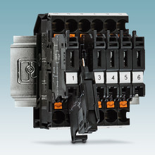 Current indicator lever-type disconnect terminal block with Push-in connection