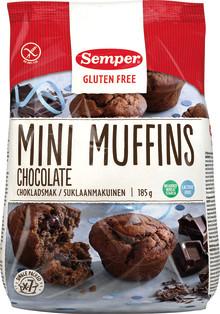 Deilige glutenfrie og laktosefrie mini muffins med sjokoladekjerne - nam!