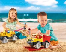 Neue Spielwelt PLAYMOBIL Sand: Coole Fahrzeuge mit abnehmbarem Sandspielzeug