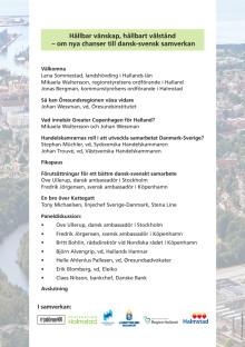 Program näringslivsseminarium 1 mars