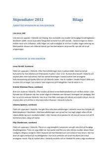 Kultur- och föreningsledarstipendiater 2012