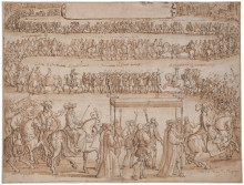New acquisition: A 17th century drawing by François Chavueau of Queen Kristina entering Paris in 1656