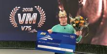 Rasmus Holmberg-Nilsson är världsmästare i V75 2018