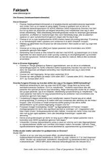 Faktaark - Om Elvanse (lisdeksamfetamindimesilat)