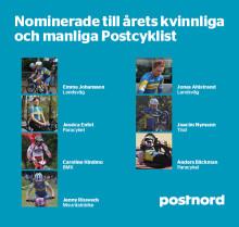 Sju nominerade till prestigeutmärkelsen Årets Postcyklist