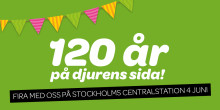 Vi firar 120 år med tårta och prisutdelningar på Stockholms centralstation