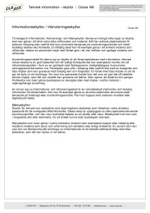 Teknisk information - Informations- och Hänvisningsskyltar