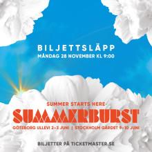 Klart med Summerburst på Ullevi även 2017
