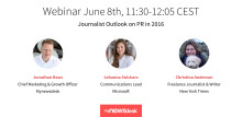 Webinar: Journalist Outlook on PR