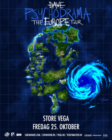 UK's største nye rap-navn, Dave gæster Store VEGA 25. oktober.