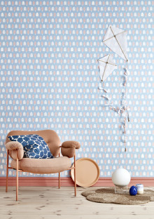 Wallpaper collection for children by Cathy Nordström