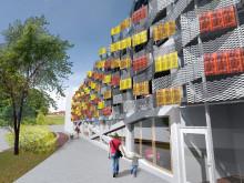 Glacell monterar solceller i unikt fasadprojekt