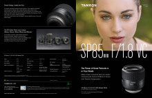 Tamron SP 85mm F/1.8 Di VC USD, datablad