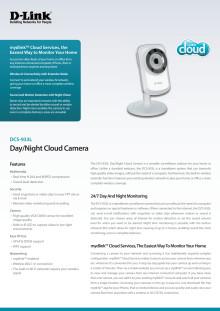 Produktblad, Trådlös ip-kamera DCS-933L