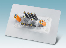 Cable entry system for quick mounting of non-assembled cables