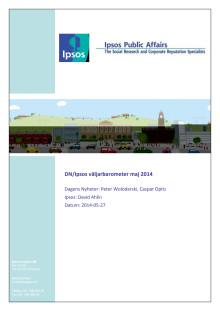 DN/Ipsos väljarbarometer, maj 2014