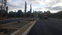 Landscape construction progress at Victoria Park, Leicester