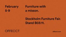 Stockholm Furniture Fair, Feb 5-9 2019