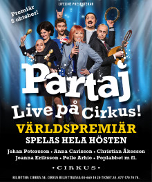 Partaj – Live på Cirkus i höst!