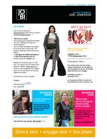 JOBI Jobbskor Nyhetsbrev oktober 2012