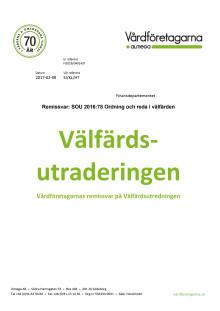 En välfärdsutradering - Vårdföretagarnas remissvar på Reepalu-utredningen