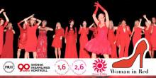 Hjälp oss rädda kvinnohjärtan  Woman in Red till Kalmar