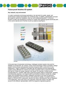 Future-proof Axioline I/O system: Any network, any environment