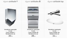 Dyson Airblade Händetrockner: Hygiene und Komfort clever geleast
