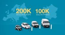Renault har sålt 200 000 elbilar i Europa