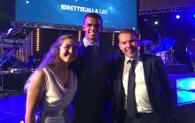 Fornøyde prisvinnere på Idrettsgalla Sør