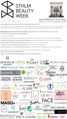 Pressinbjudan Stockholm Beauty Week