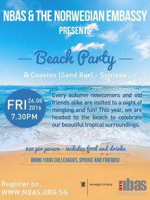 BEACH PARTY 26 August 2016 - tickets still available!