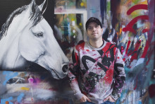 100 dagar kvar till EM-festen i Göteborg - Utställning av konsthästar på Avenyn