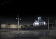 WSP:n Sofie-ehdotukselle tunnustuspalkinto Helsingin Senaatintorin valaisinmuotoilukilpailussa