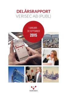 Verisec Delårsrapport januari - september 2015