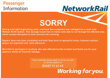 Network Rail apology for disruption