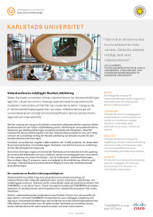 Tandberg/Cisco Case Study - Karlstad University