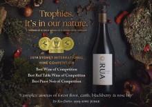 RUA Pinot Noir 2017 – bästa vinet i Sydney International Wine Competition